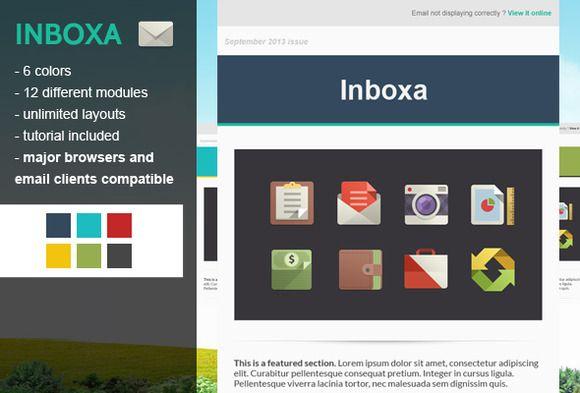 I just released Inboxa Email Newsletter on Creative Market.