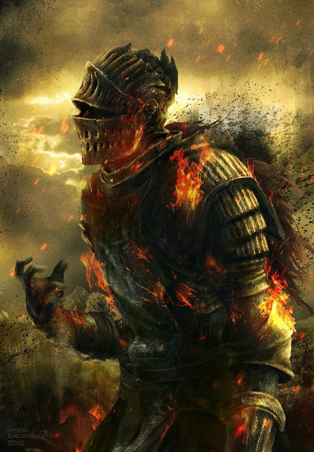 Ashen One Sif Dark Souls Arte Dark Souls Ilustracao De Personagens