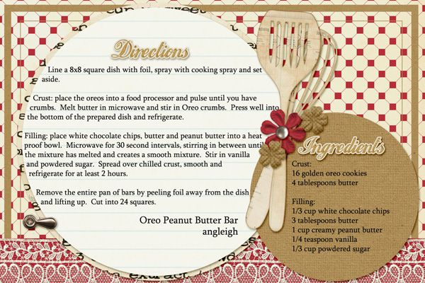 cookbook recipe cards