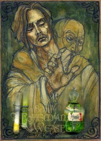 Dr Jekyll And Mr Hyde In Jekylls Laboratory Based On The Book By