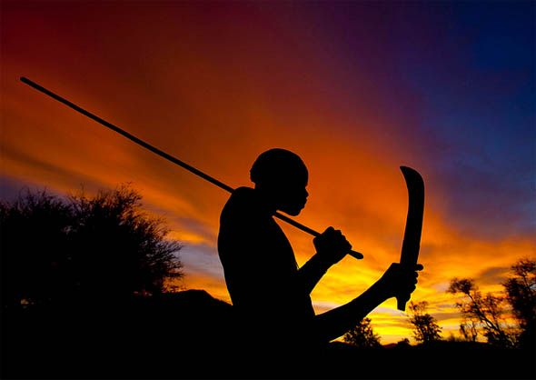 ☆  Sunset in Mucubal tribe -::- By Eric Lafforgue ☆