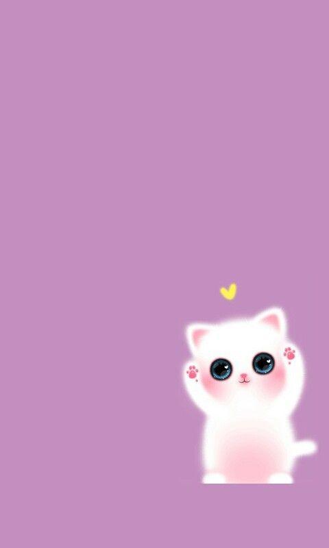 Kitty With Yellow Heart Sfondi Carini Sfondi Per Cellulare Sfondi Iphone
