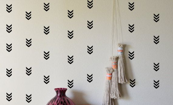 50 Arrow Wall Stickers Geometric Wall Decal Chevron By CutOutArts
