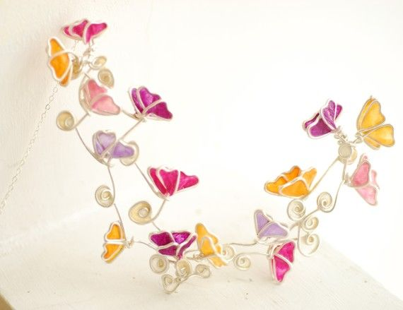 Sterling and paper Butterfly Necklace by TaylorsEclectic