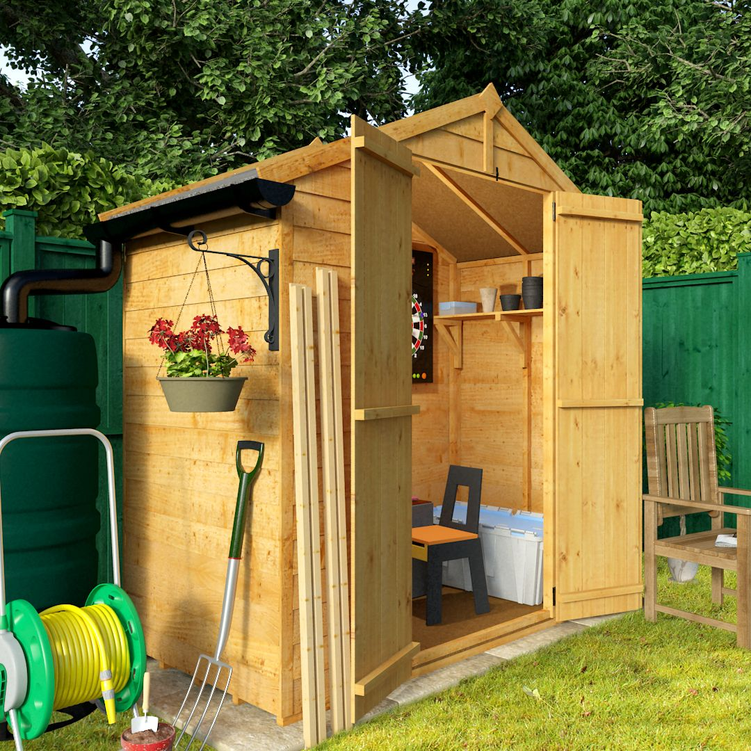 Garden Sheds 3 X 6 billyoh 3 x 6 windowless economy overlap apex garden shed 30 range