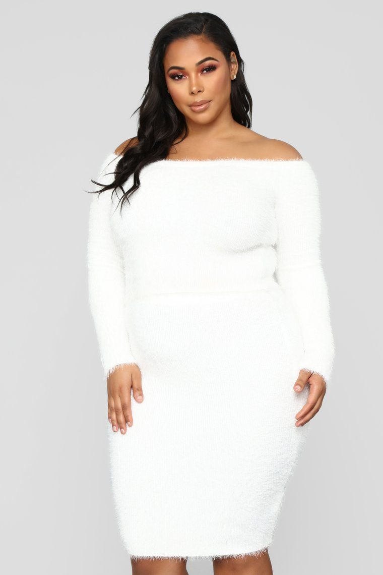 Feel The Fuzzy Skirt Set - Ivory in 2019 | Plus size | Fashion ...