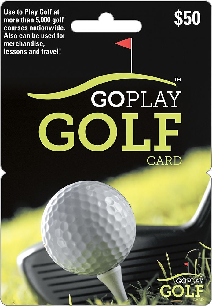 Go Play Golf - $50 Gift Card