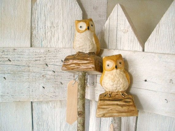 Vintage Garden Stakes Plant Markers Owls By AVelvetLeaf On Etsy, $16.00
