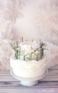 Schneeglöckchentorte von Floralilie | Snowdrops Cake by Floralilie