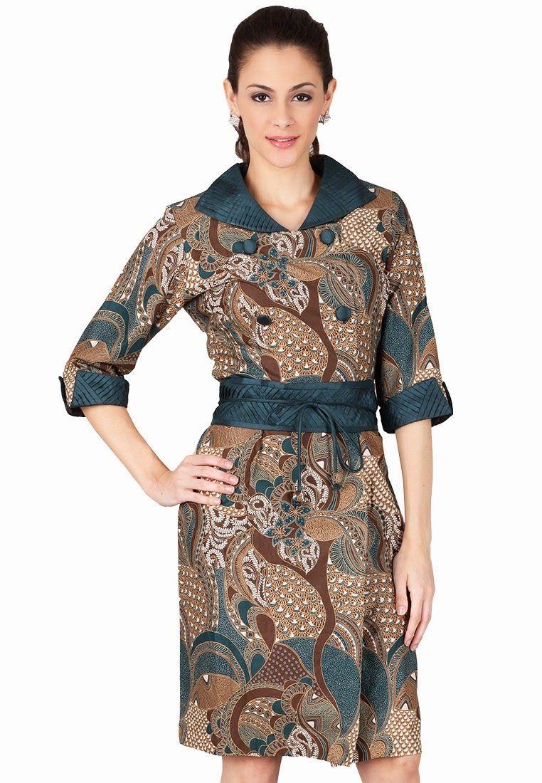 Pusat model baju batik modern dan model baju gamis wanita modern ... b29c9cad25