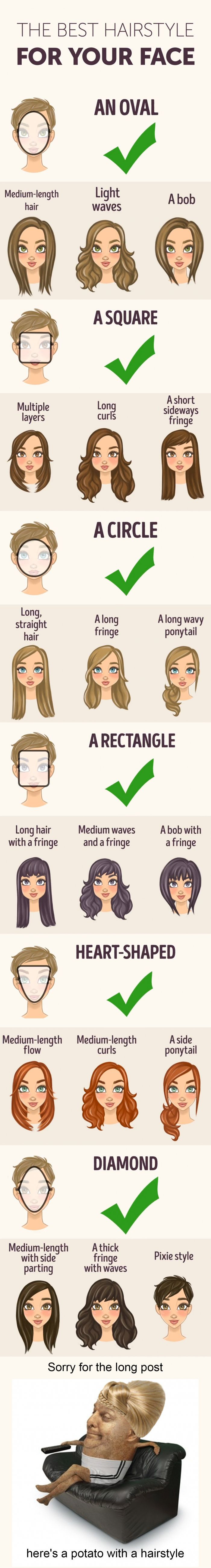 The Best Hairstyle For Your Face Shape Long Hair Styles Face