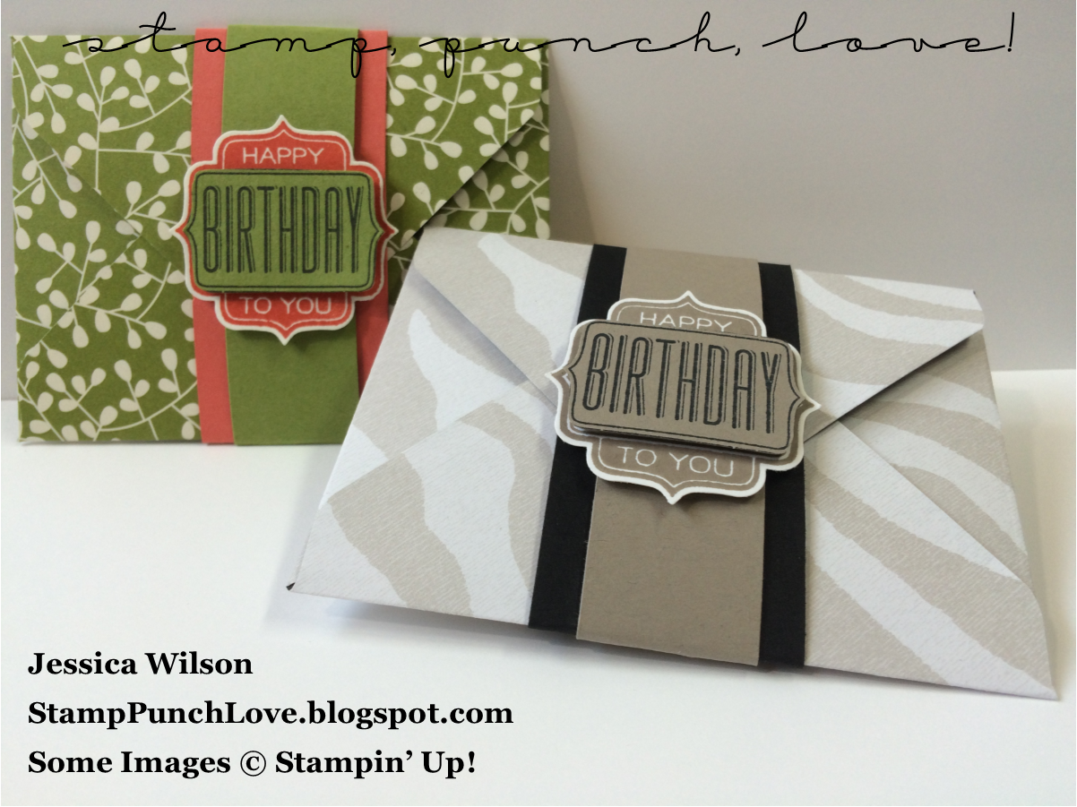 Stamp Punch Love Simple Giftcard Holder Using The Envelope