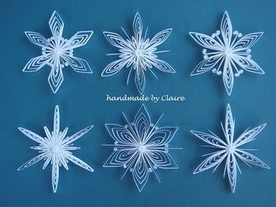 quilling snowflake patterns  Quilled Snowflakes | Quilling craft, Paper quilling ...