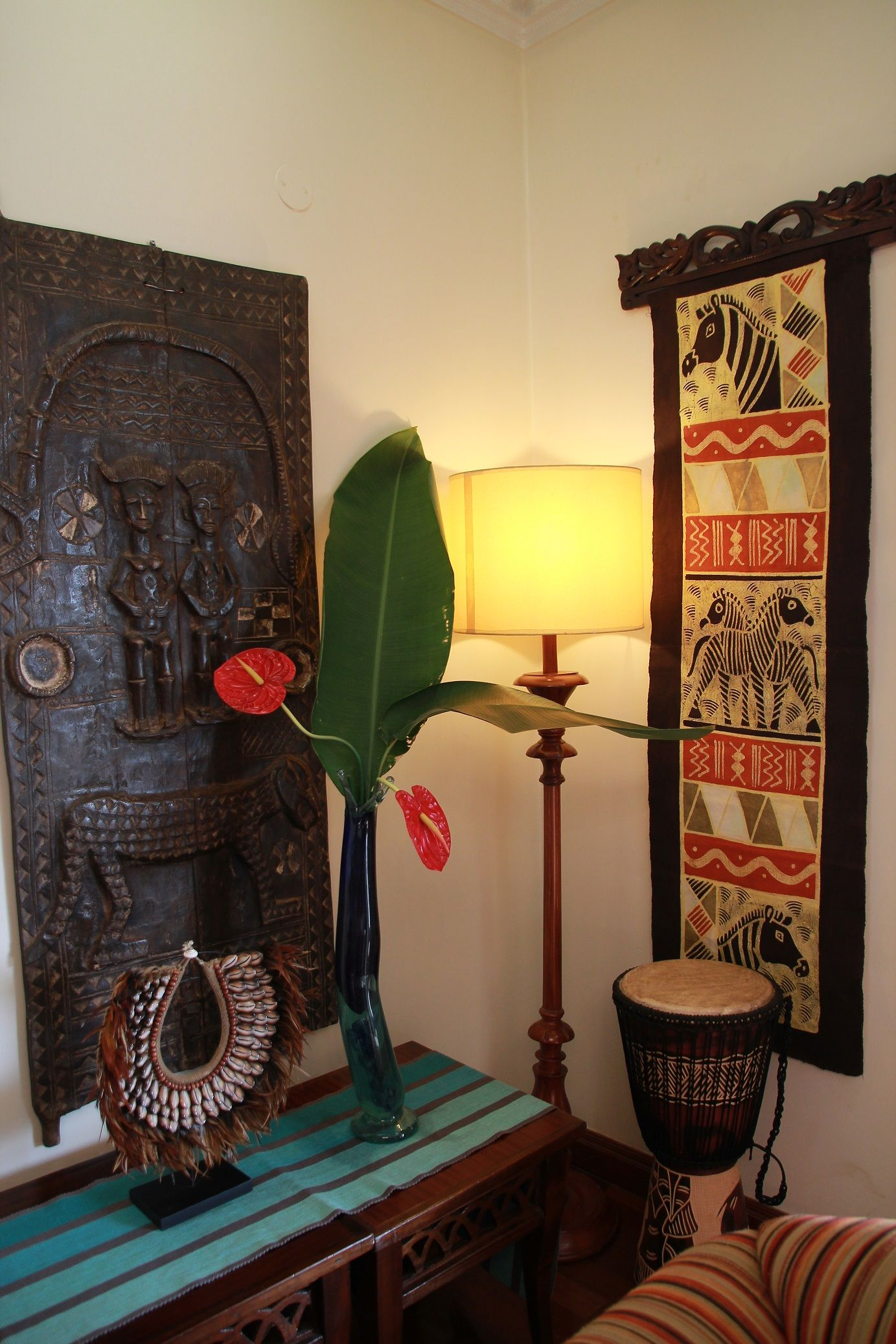 African Corner Of My Living Room Decor