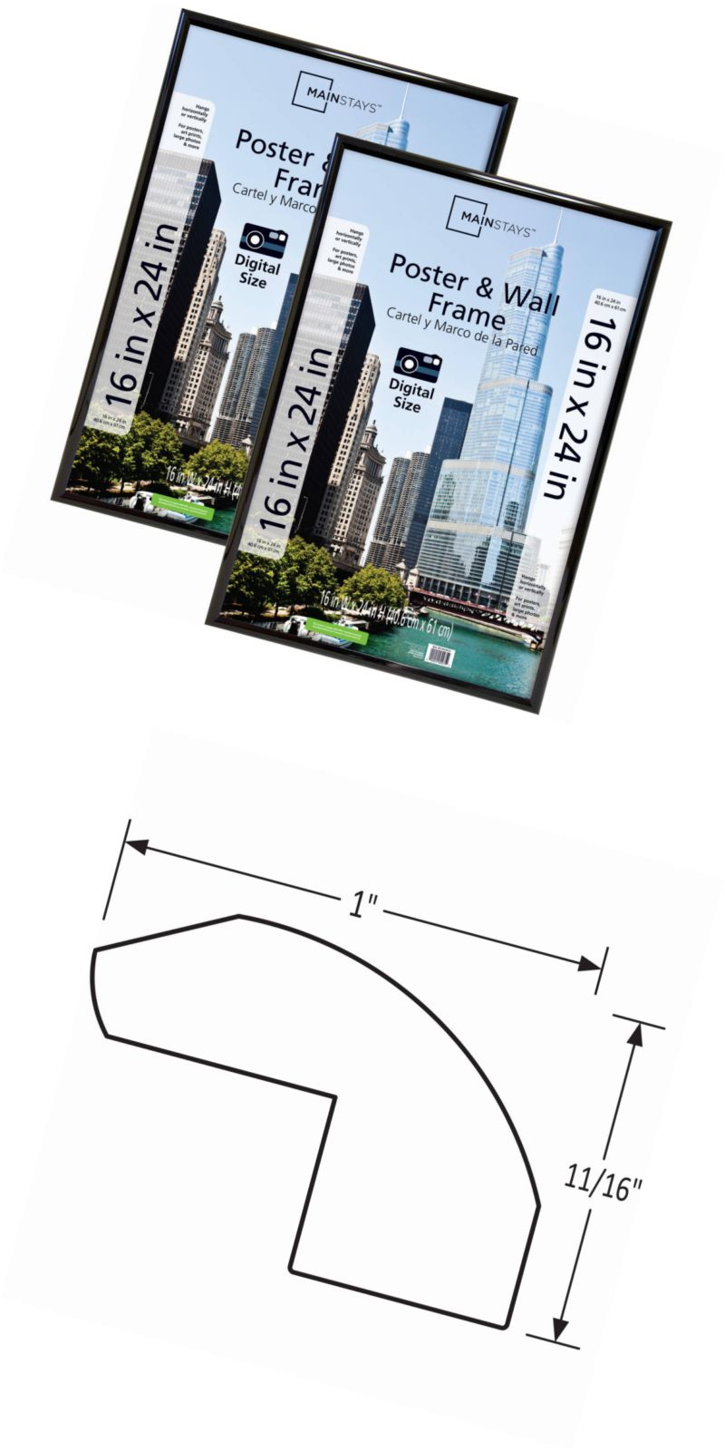 Frames 79654: Mainstays 16X24 Trendsetter Poster And Picture Frame ...