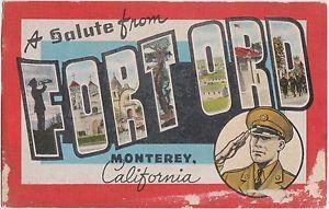 Vintage postcard from Fort Ord.
