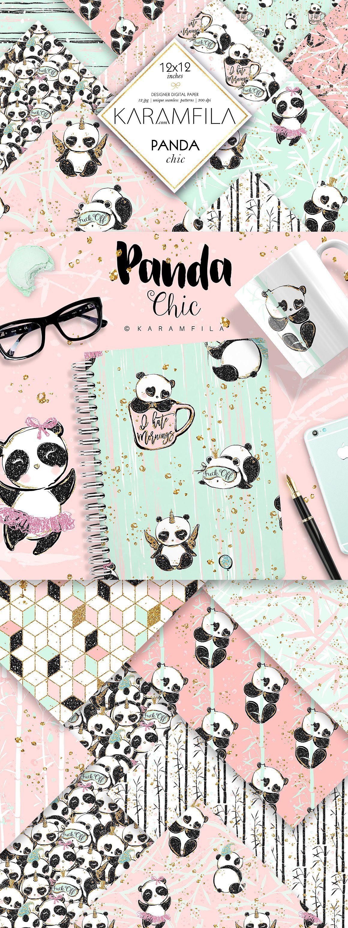 Cute Panda Patterns panda patterns cute pandas cute ...