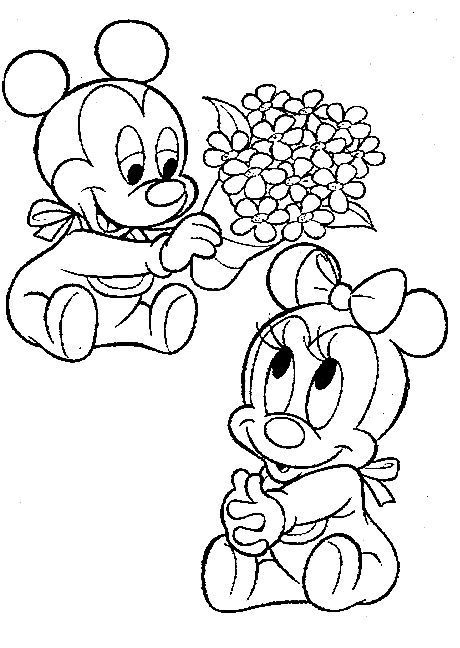 Dibujos animados para colorear: Disney Bebes para colorear ...