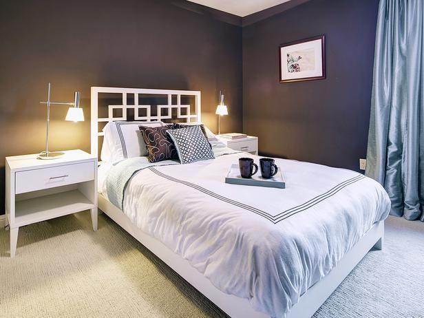 White Bedroom With Orange Drum Pendant Light  Designers\u0027 Portfolio