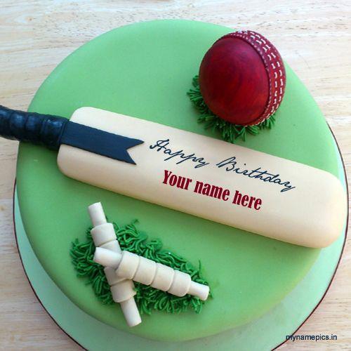 cricket themed cake - Google Search … | Happy Birthday | Crick…