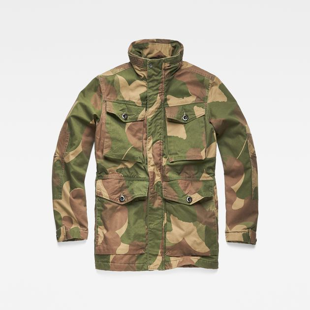 64a49b6897bd0 The Vodan Teddy Padded Field Jacket is cut from soft, longwearing canvas  with a richly