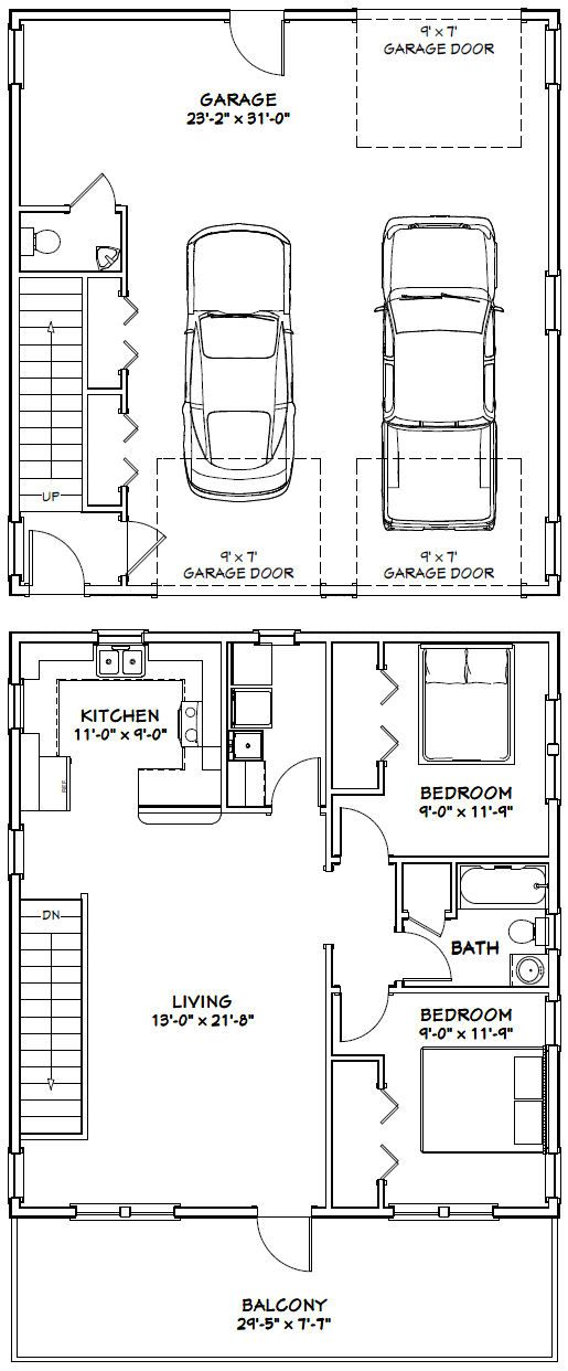 30x32 House 30x32h1h 986 Sq Ft Excellent Floor Plans