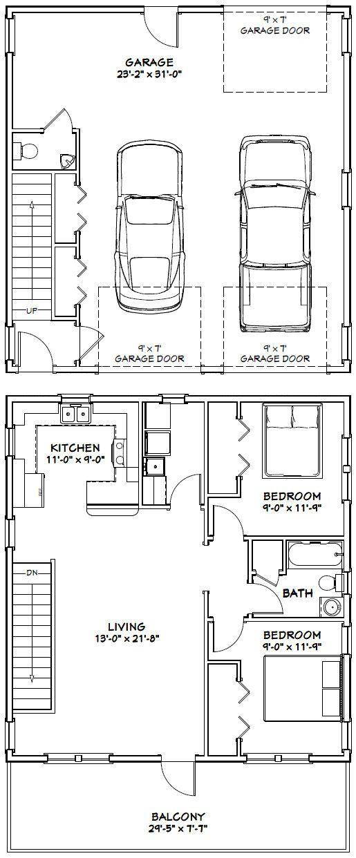 30x32 House 30x32h1h 986 Sq Ft Excellent Floor Plans