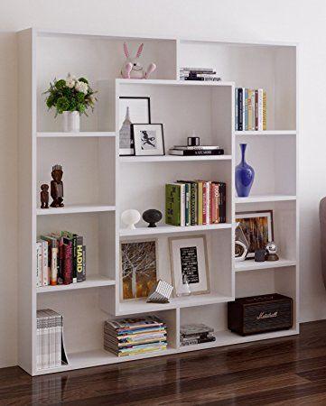Ample Bibliotheque Blanc Etagere Bibliotheque De Rangement