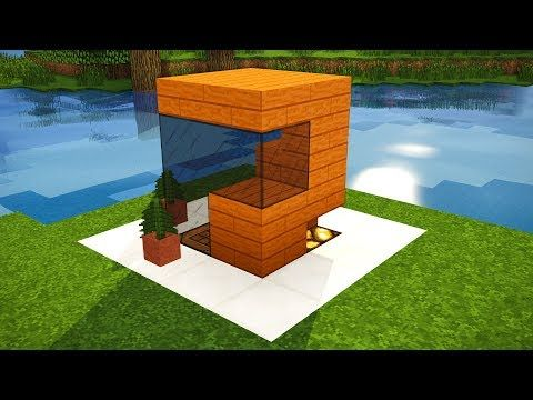 Minecraft: Survival House Tutorial   Smallest Minecarft House Ever!