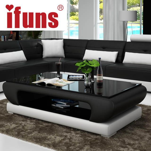 Online Shop Ifuns Living Room Furniture Modern New Design Coffee Table Glass Top Wood In 2020 Modern Furniture Living Room Center Table Living Room Sofa Table Design