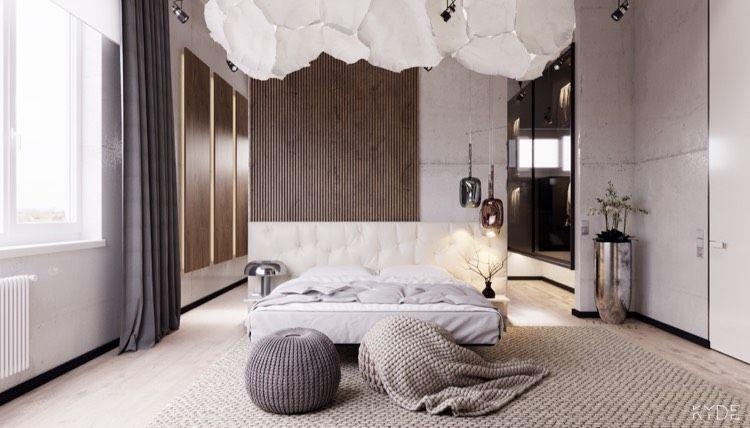 Schlafzimmer In Weiß, Grau Und Creme