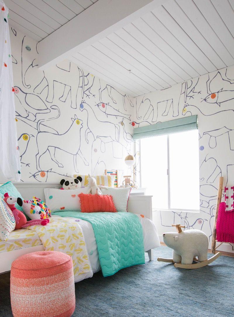 Emily Henderson S Nursery Turned Kids Room Is A Modern Woodland Dream Kid Room Style Kid Room Decor Big Kids Room