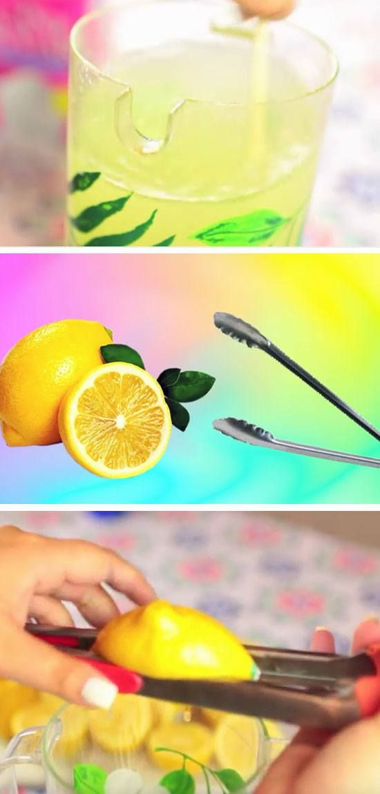 Tongs Make Great Lemon Squeezers | 22 DIY Summer Life Hacks for Teens that everyone needs to know!