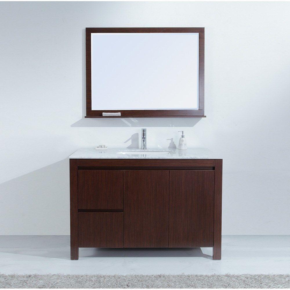 Best Sierra 48 Inch Contemporary Single Sink Bathroom Vanity 400 x 300