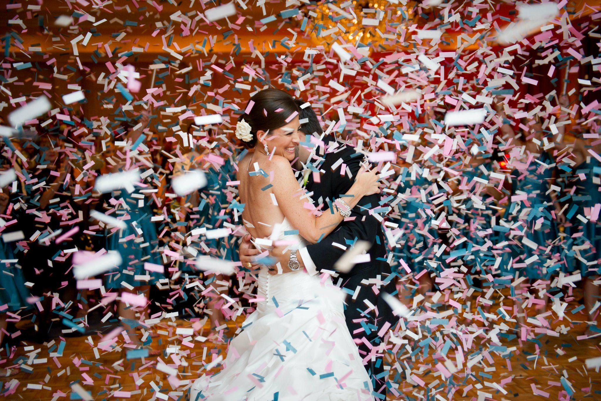 Cancun Wedding Confetti cannon reception party