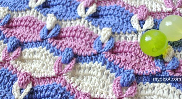 Popcorn Loop Stitch | My Picot | Free Crochet Pattern | CROCHET ...