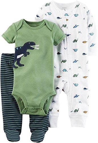 Carter/'s Infant Boys 2-Piece Green Dino Sweatshirt w// Navy Joggers Set NWT