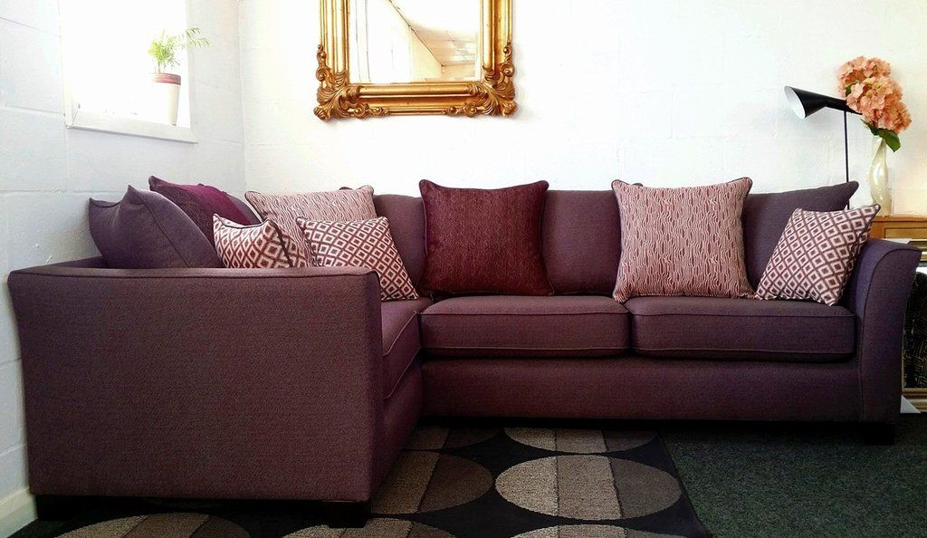 ex display aurora left facing purple fabric corner sofa now just rh pinterest com buy cheap sofa storage plastic bag homedepot buy cheap sofa slipcover