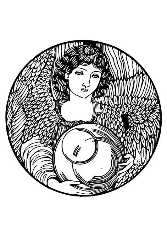 Dibujo para colorear ángel | dibujo | Pinterest | Colorear, Ángeles ...