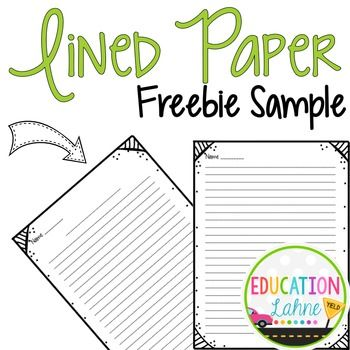 This Lined Paper Is Perfect For Upper Elementary This Sample