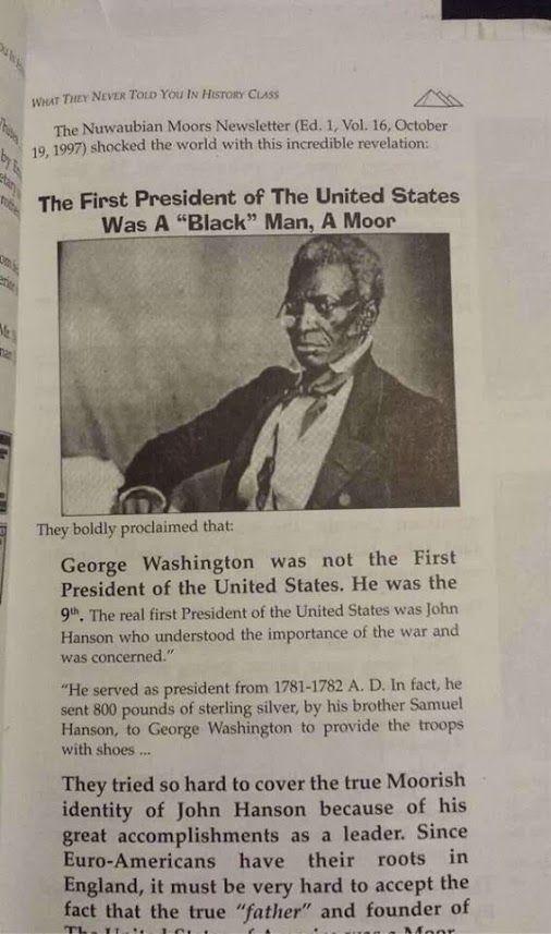 FAKE: John Hanson, a Black man, was the first President of ...