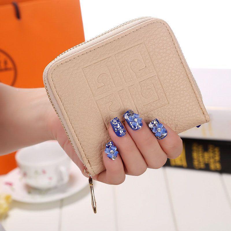 Vintage Lady Women Purse short Wallet Card Holder