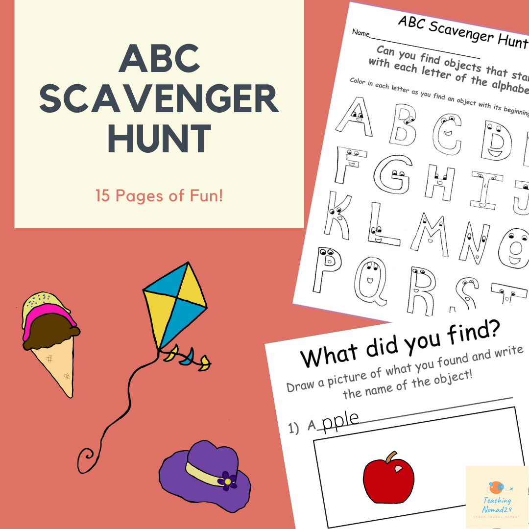 Alphabet Scavenger Hunt In