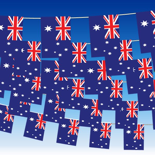Decorations 4M (15ft) Plastic Australian Flag Bunting £1.99 each