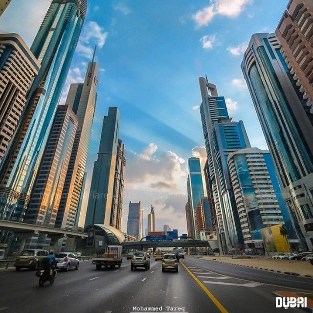Dubai Sheikh Zayed Road Photo Credit Mohammed Tareq Dubaitag Dubai City Dubai Architecture Dubai