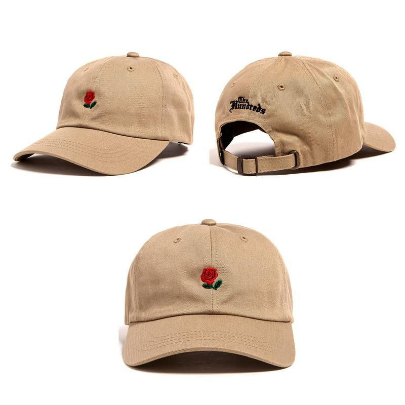 ff847ead204f2 THE HUNDREDS Flower Rose Embroidery Snapback Dad Hat