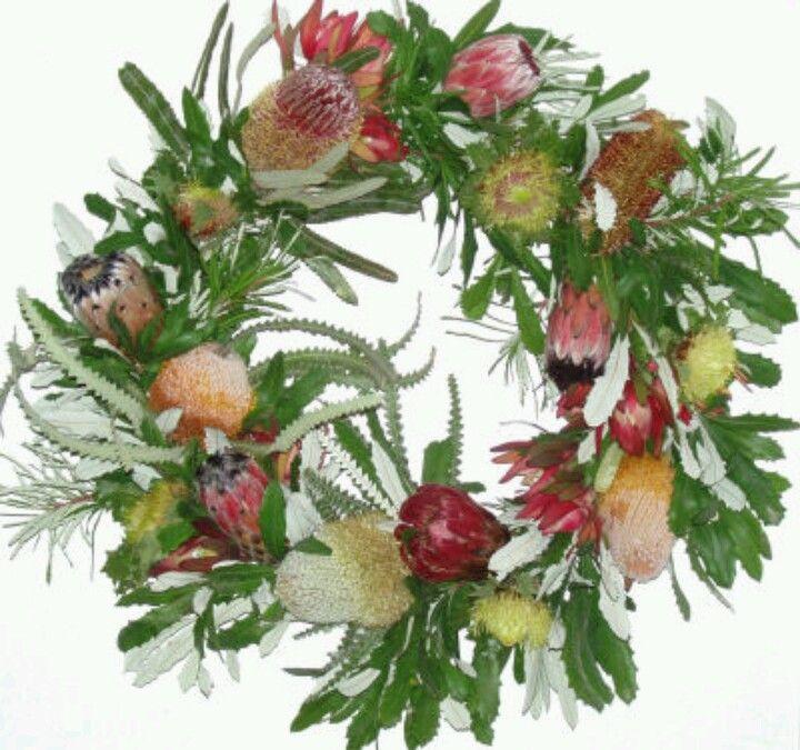 BANKSIA  PROTEA WREATH fresh wreaths Pinterest Wreaths
