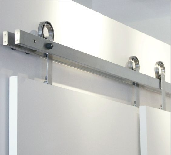Sliding Doors Rail With Tubular Bypass Track Railing Doors System With Double White Hanging Gypsum As & Sliding Doors Rail With Tubular Bypass Track Railing Doors System ...
