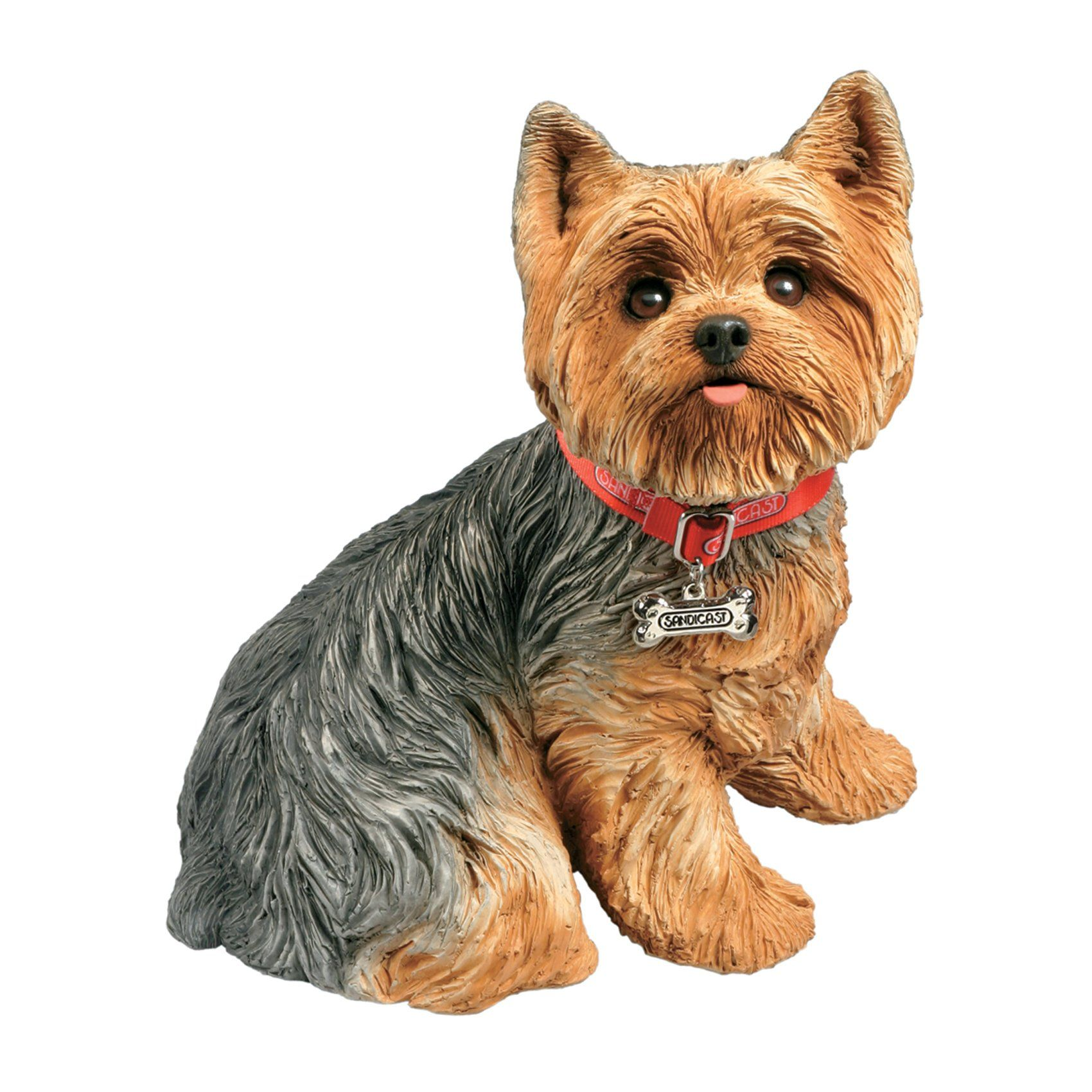 New Free Shipping Sandicast Yorkshire Terrier Sculpture Sitting Small Size