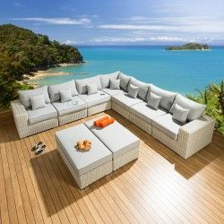 Luxury L Shape Conservatory Garden Sofa 9 Seater Stone Grey L4 Garden Furniture Design Garden Sofa Quality Garden Furniture
